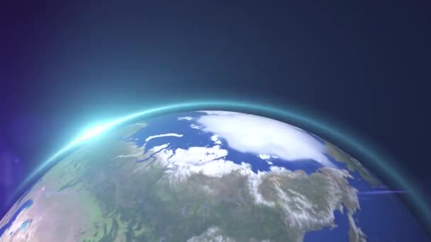 The world star view or the 3D globe from space in the star field shows the composition of this image decorated by Nasa.