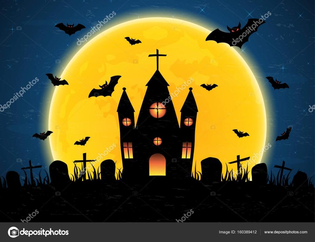Halloween Chiesa.Chiesa Del Cimitero Di Halloween Vettoriali Stock C Lekkyjustdoit