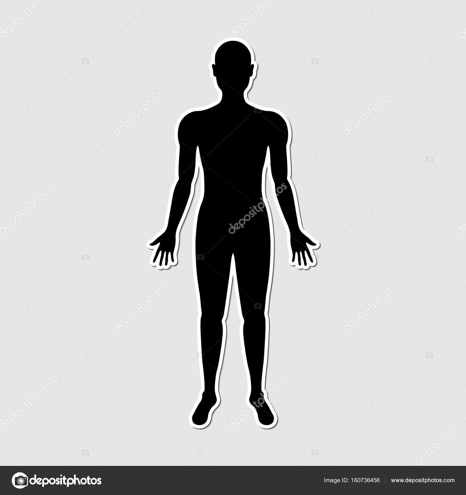 Etiqueta engomada del cuerpo humano papel estilo — Vector de stock ...