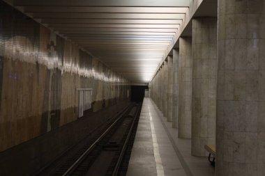 Moscow metropolitain, Serpukhovsko Timiryazevskaya line, Nagatinskaya station, opened in 1983,11.2019