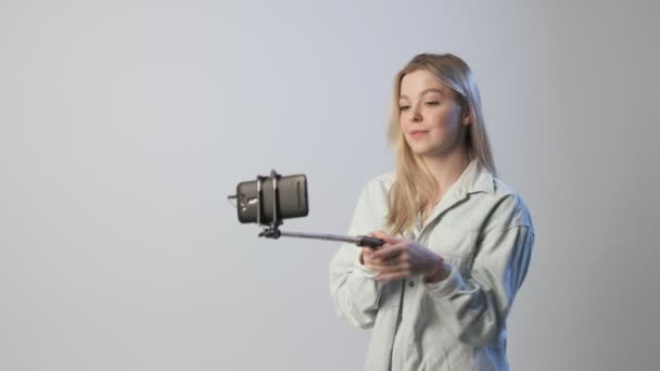 boldog női rekordok videó vlog okostelefon csatolt szelfi stick