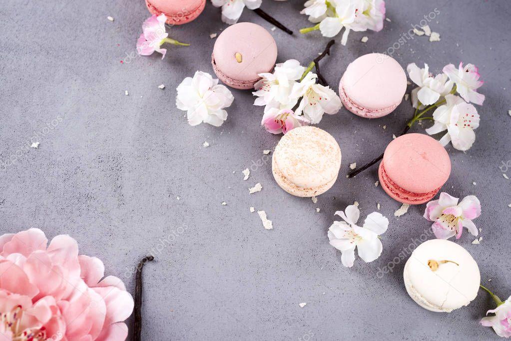 Sweet pastel macaroons