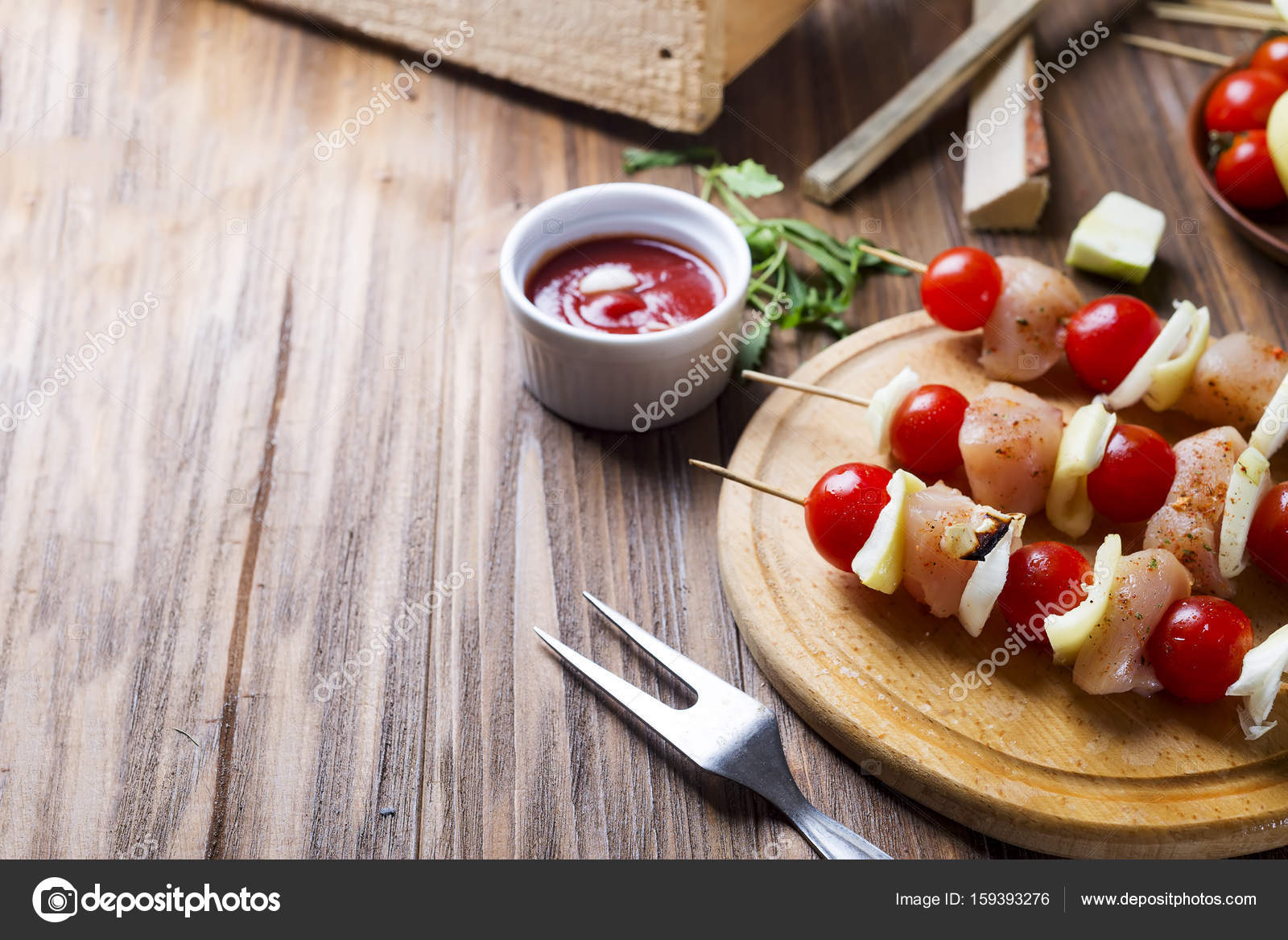 Herstellung Kebab aus Hühner — Stockfoto © lyulka.86 #159393276