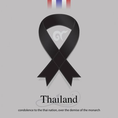 Black band mourning sign for SIAM sad news