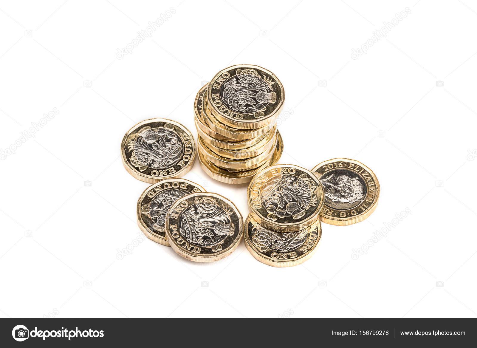 Britisches Pfund Münzen Stockfoto Gbp27 156799278
