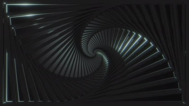 Abstract background. Dark fibonacci pattern loop.