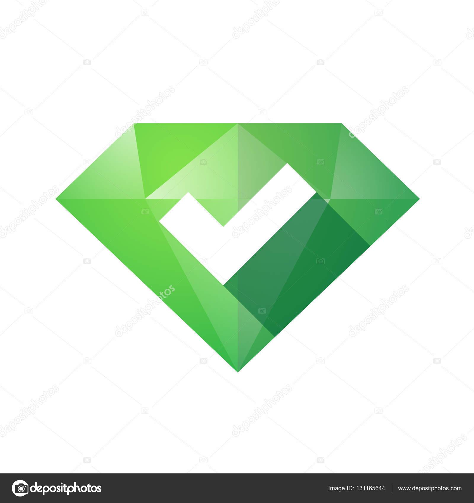Isolated Diamond With A Check Mark Stock Vector Jpgon 131165644