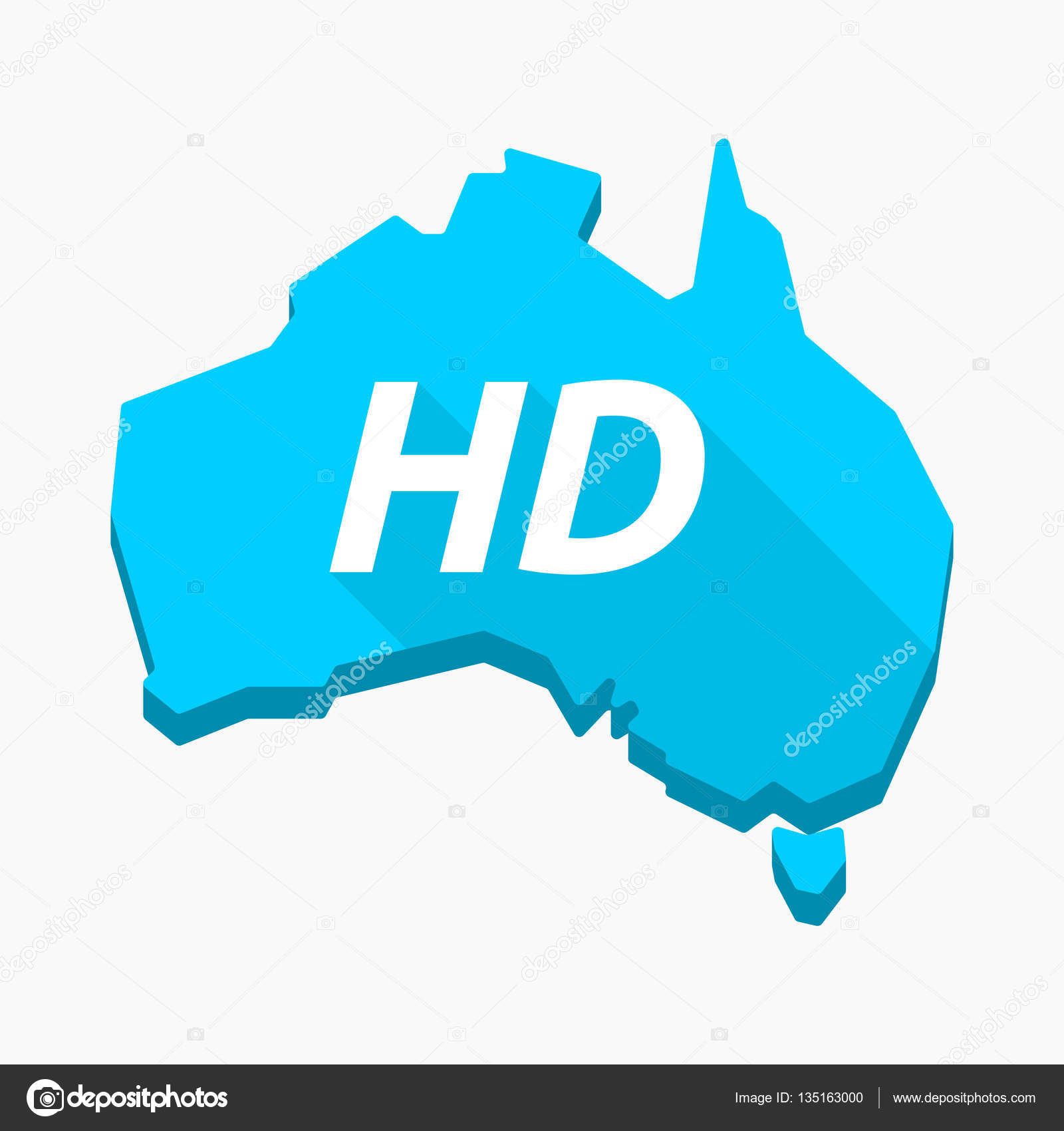 Isolated Australia map with the text HD — Stock Vector ...