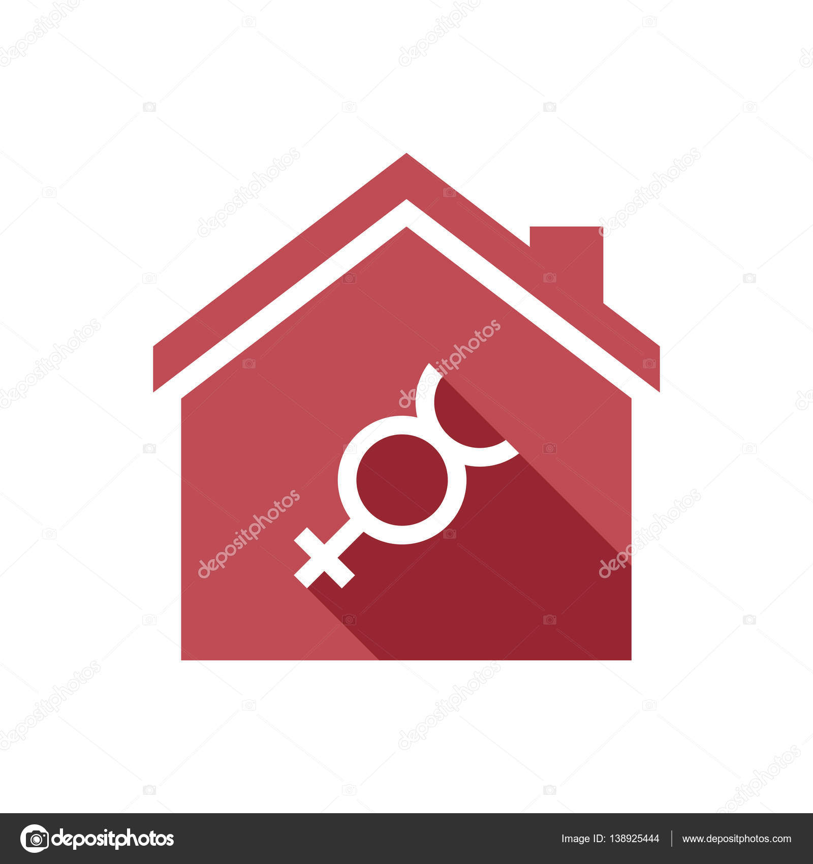 Isolated House With The Mercury Planet Symbol Stock Vector Jpgon
