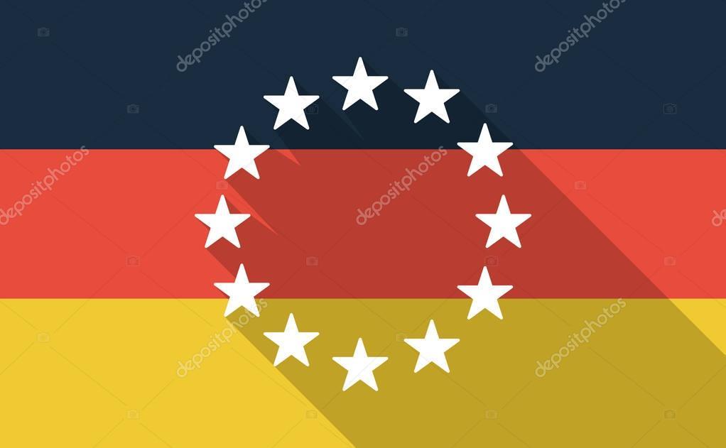 Bandierina della germania lungo ombra con le stelle di - Bandiera della pagina di colorazione della germania ...