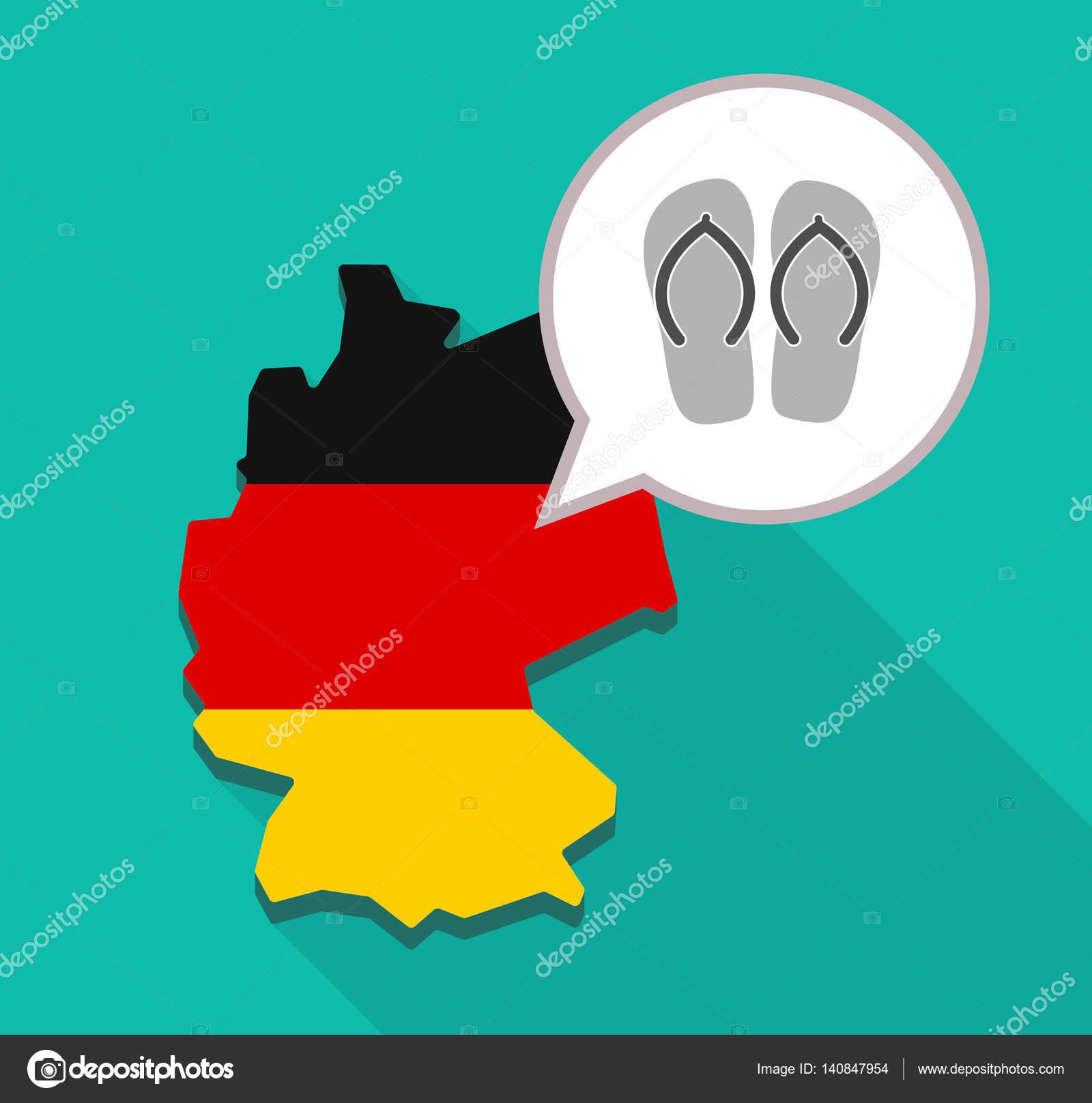 flops karte Karte von Deutschland mit ein paar flops — Stockvektor © on