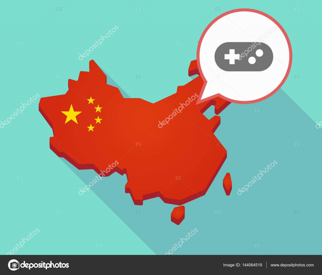 China Map Game.Map Of China With A Game Pad Stock Vector C Jpgon 144064519