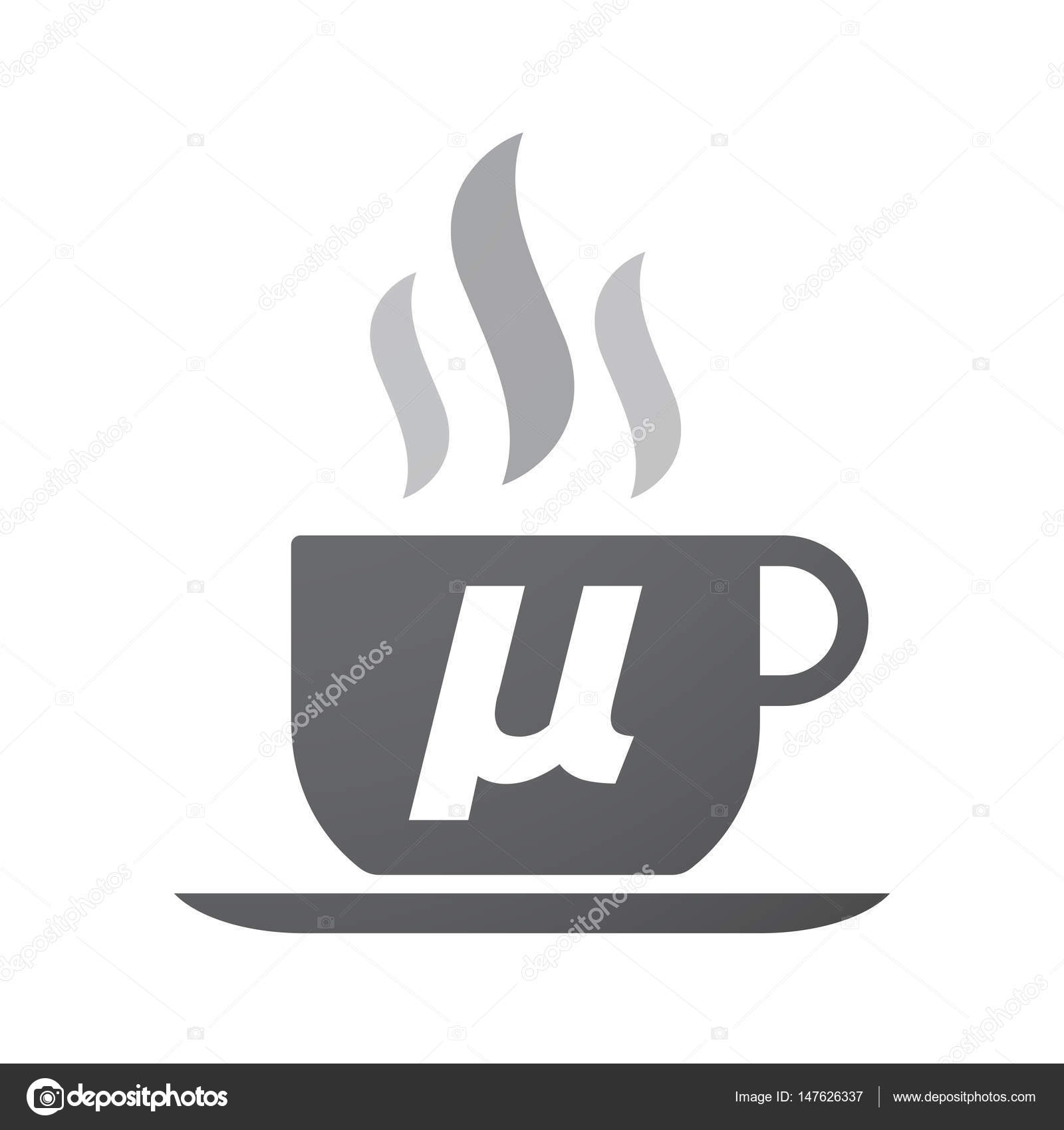 Isolated Coffee Mug With A Micro Sign Mu Greek Letter Stock