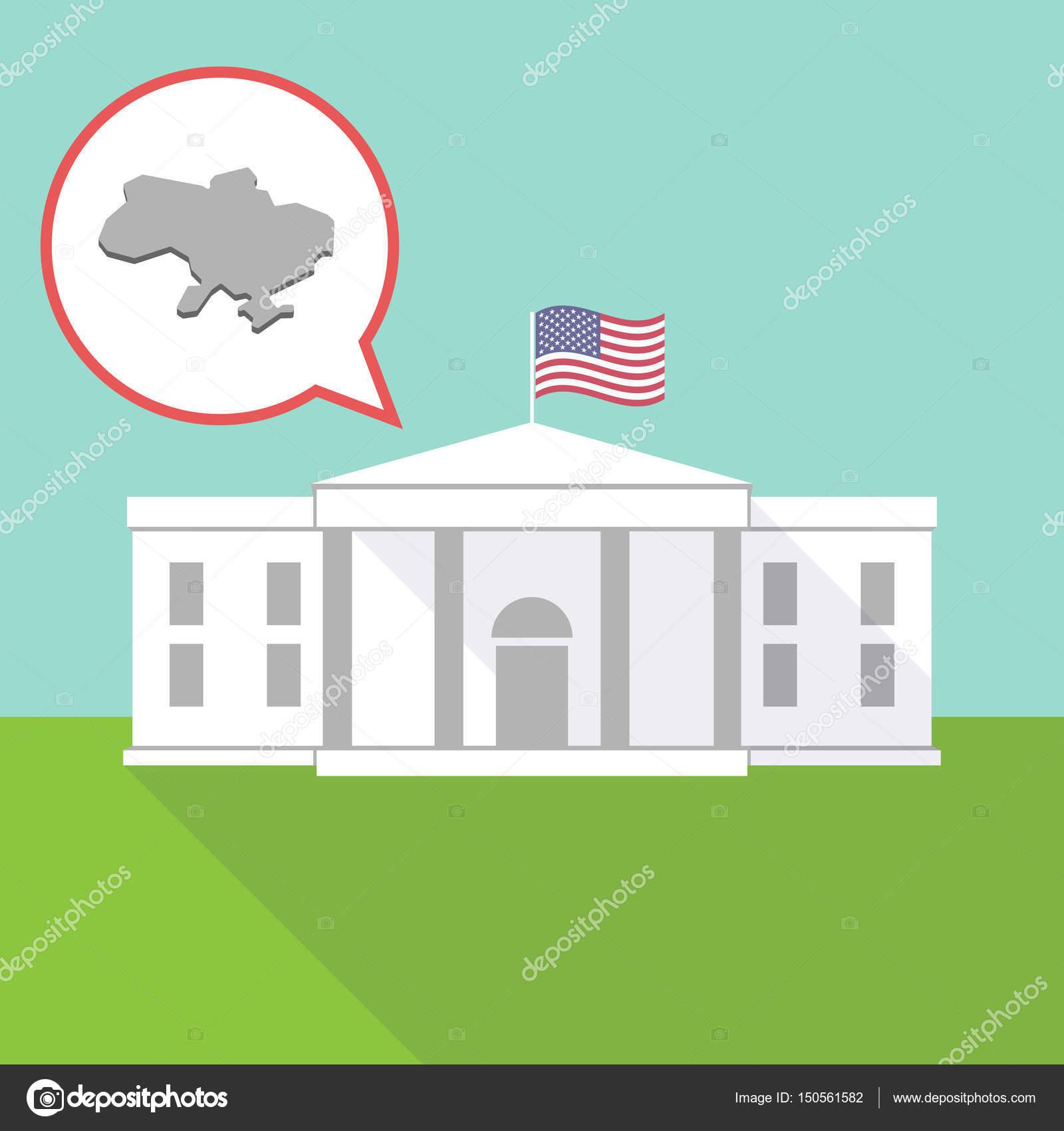 vita huset karta Vita huset med karta över Ukraina — Stock Vektor © on #150561582 vita huset karta