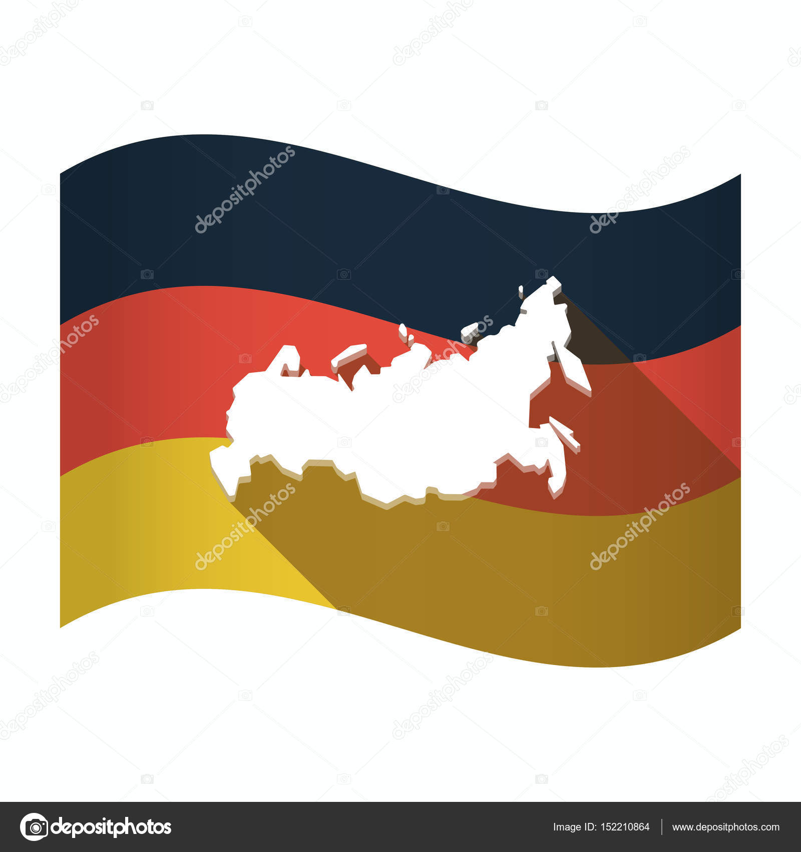 Isolated Germany Flag With A Map Of Russia Stock Vector C Jpgon