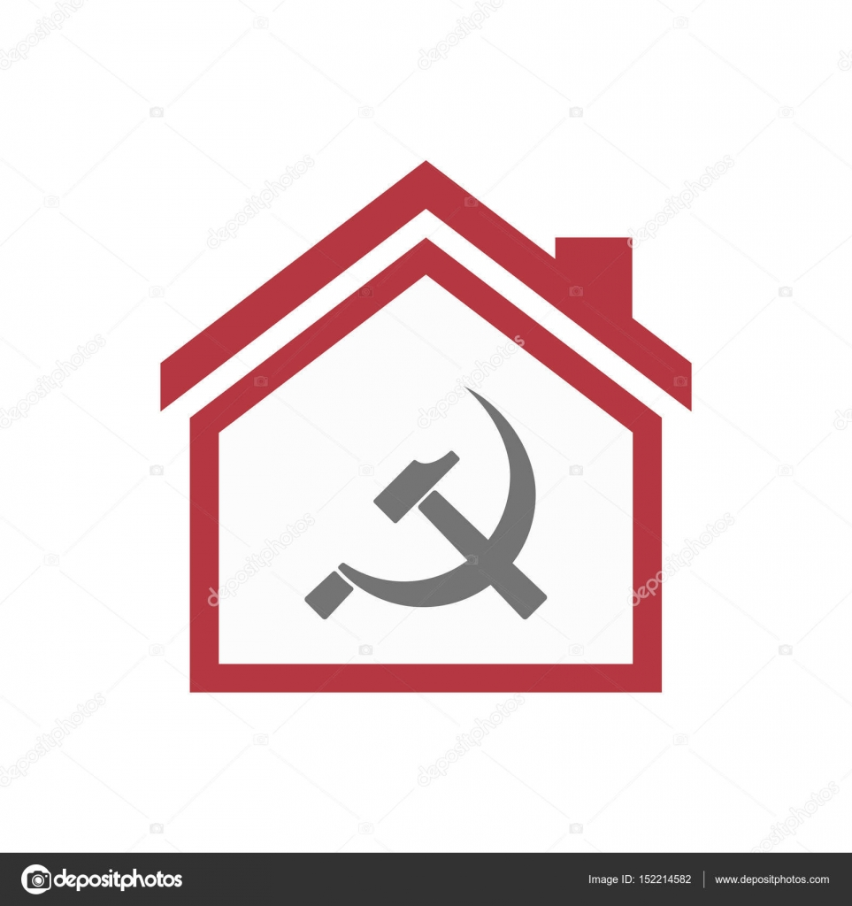 Isolated House With The Communist Symbol Stock Vector Jpgon