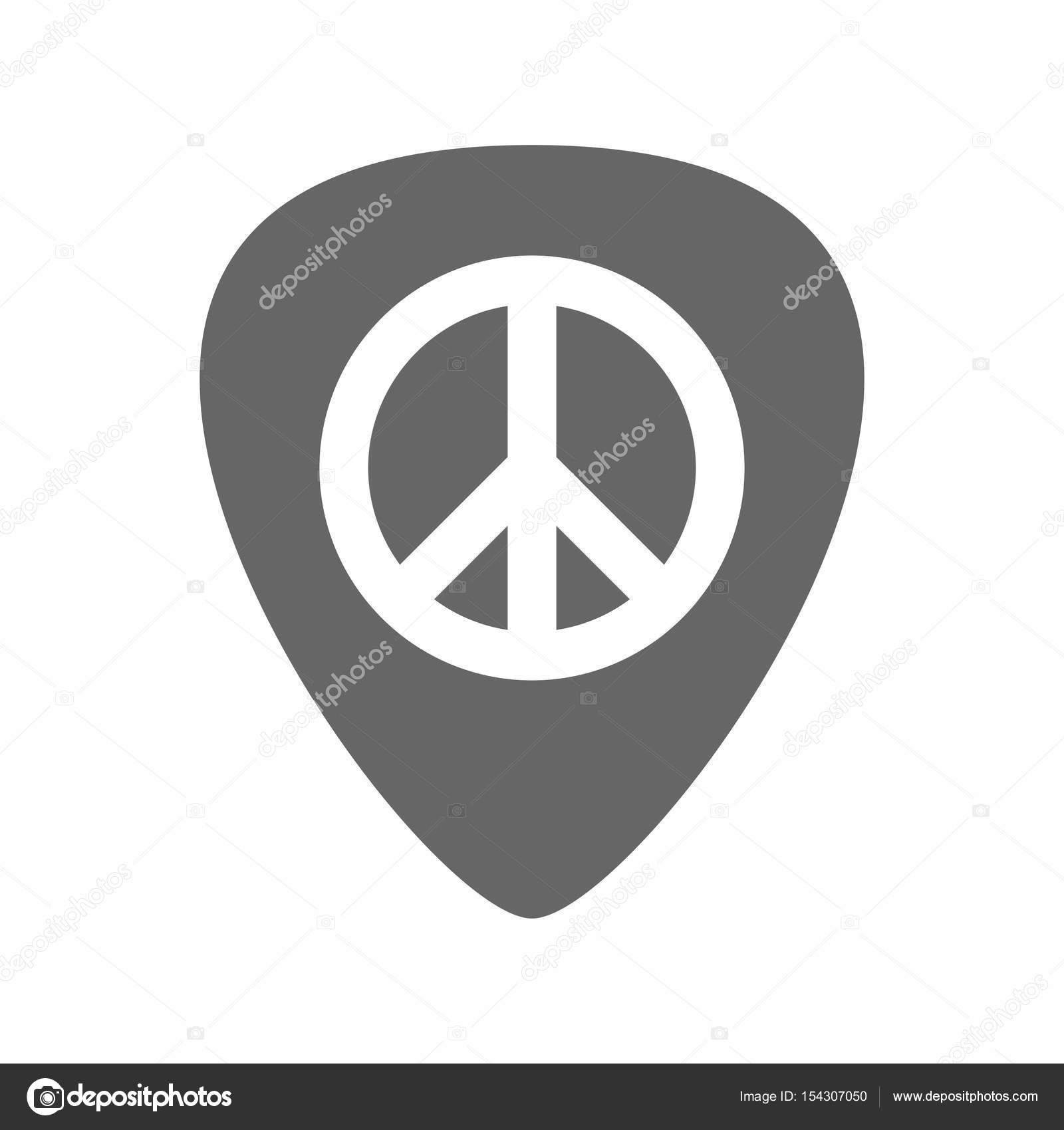 Isolated Guitar Plectrum With A Peace Sign Stock Vector Jpgon