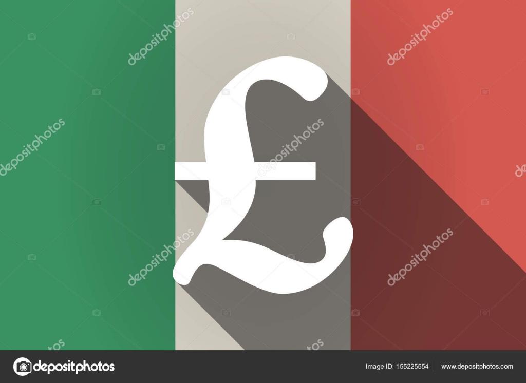 Cancelletto In Inglese : Ombra lungo la bandierina dell italia con un segno di cancelletto