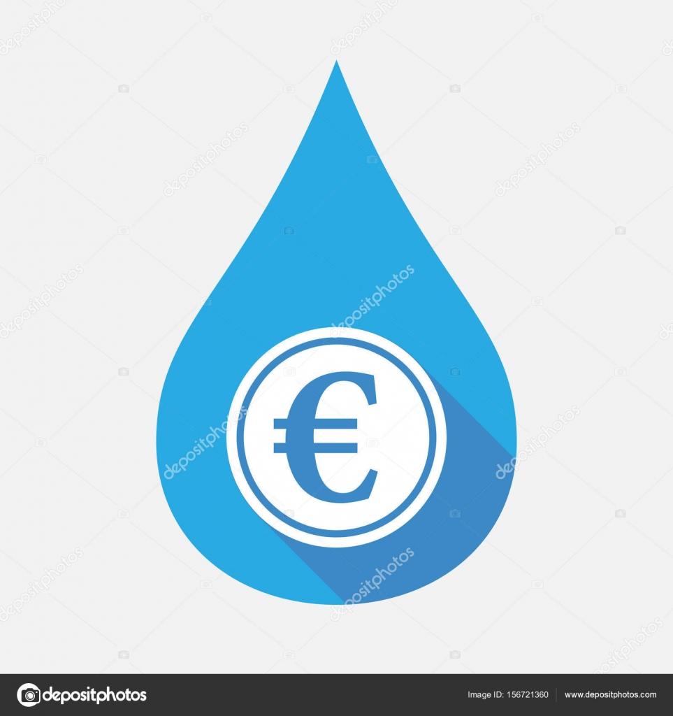 Isolierte Wasser Fallen Mit Ein Euro Münze Stockvektor Jpgon