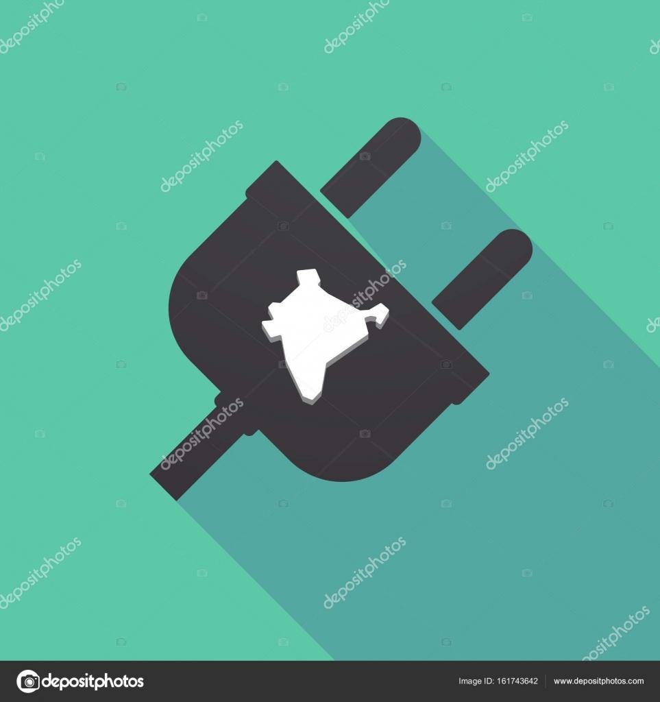dugó térkép Hosszú árnyék dugó Térkép India — Stock Vektor © on #161743642 dugó térkép