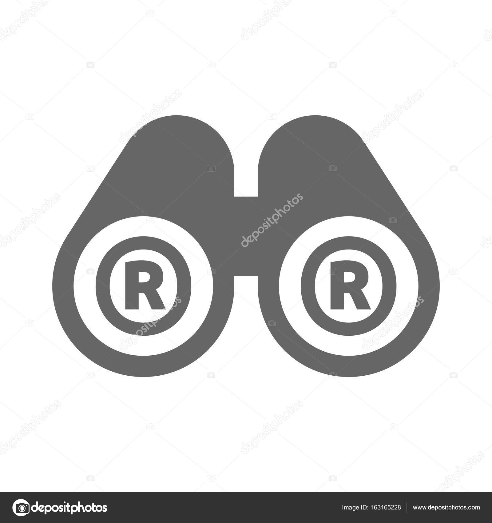 Isolated binoculars with the registered trademark symbol stock isolated binoculars with the registered trademark symbol stock vector biocorpaavc Choice Image
