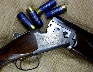 12 gauge double barrelled shotgun