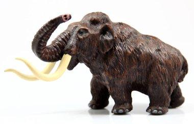 toy mamut on white background