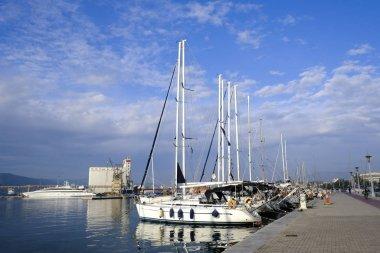 Volos, Greece Nov. 18, 2019. Boats and yachts in marina of Volos.