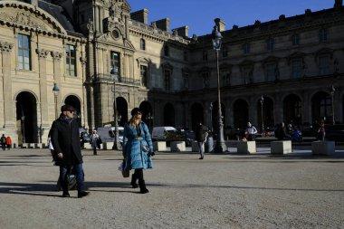 People walk in central Paris, France on Dec. 18, 2019.