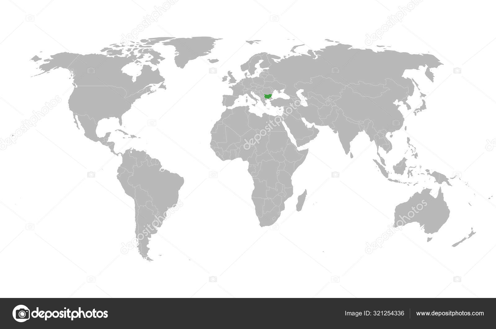 Picture of: Bulgaria Map Highlighted Green On World Map Vector Stock Vector C Rasik Niceguy Gmail Com 321254336