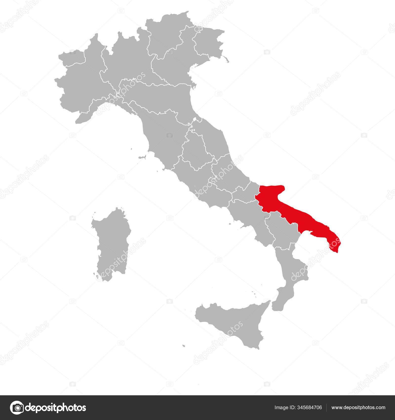 Cartina Italia Puglia.Immagine Vettoriale Mappa Puglia Illustrazioni Vettoriali Mappa Puglia Depositphotos