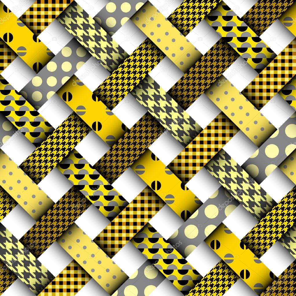 be27202b9bc3 Žlutý patchwork vzor — Stock Vektor © kastanka  127136712