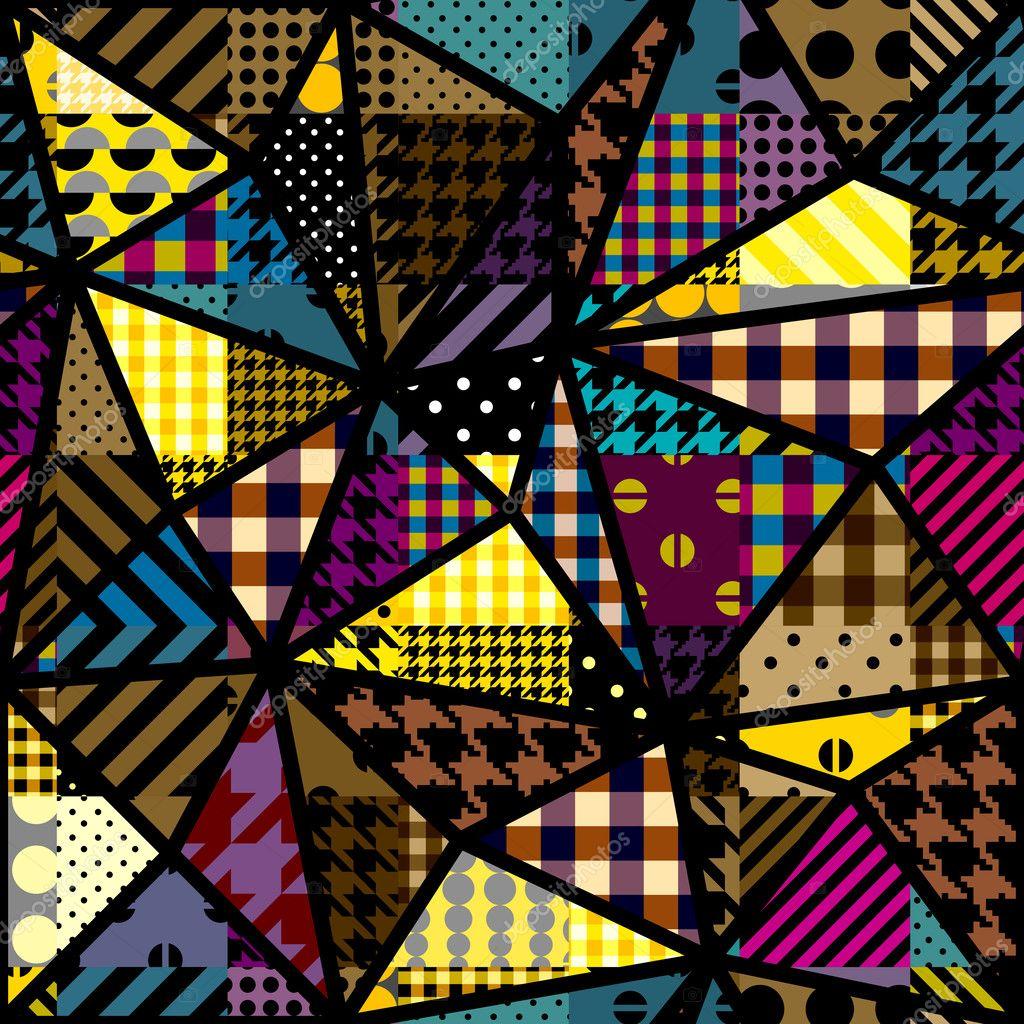 679a81cc89d6 Žlutý patchwork vzor — Stock Vektor © kastanka  127654080
