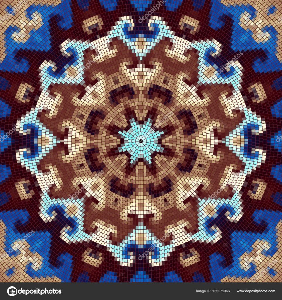 dekorative runde mosaik muster vektor von kastanka - Mosaik Muster