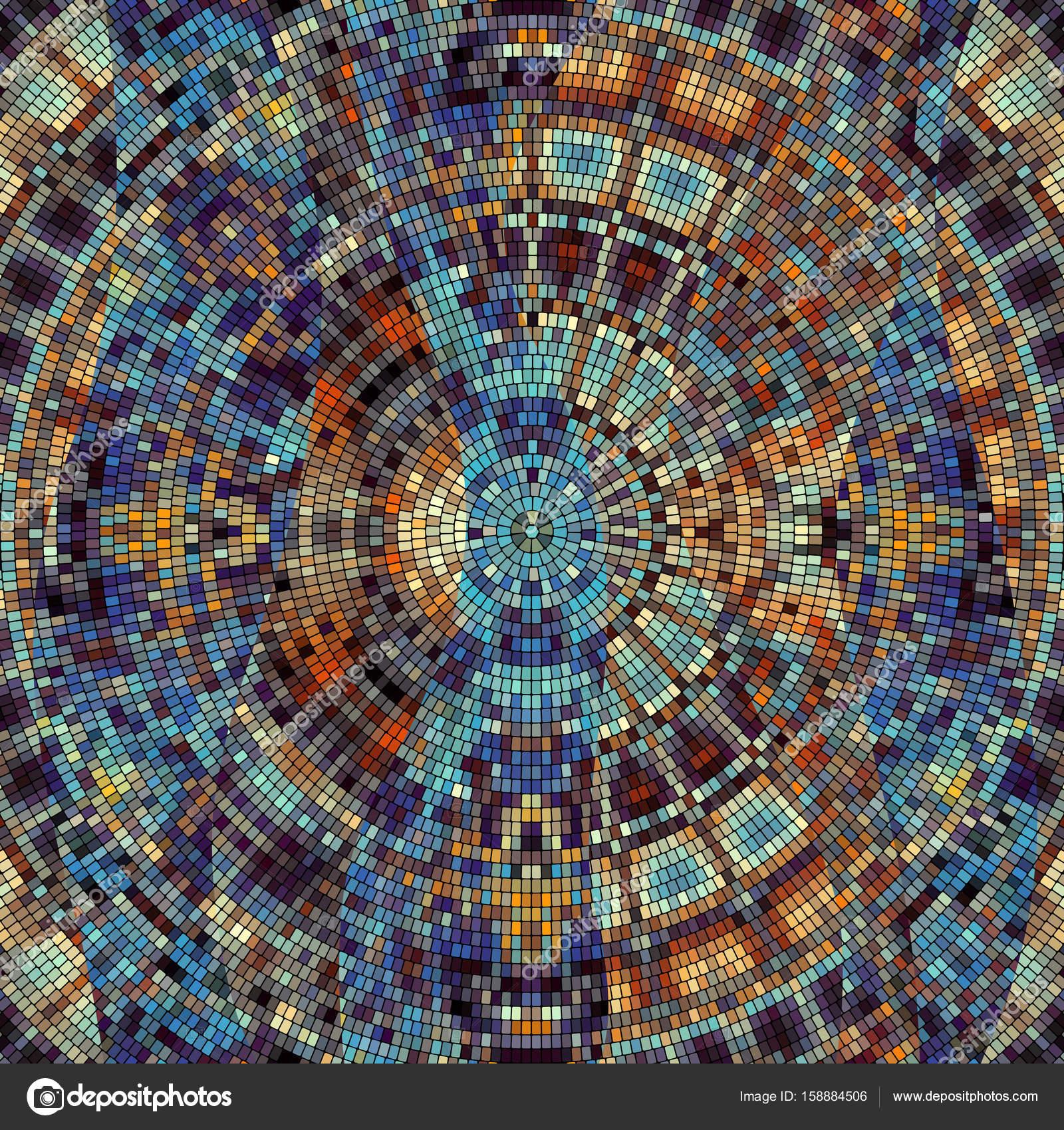 runde dekorative symmetrische mosaik muster vektor von kastanka - Mosaik Muster