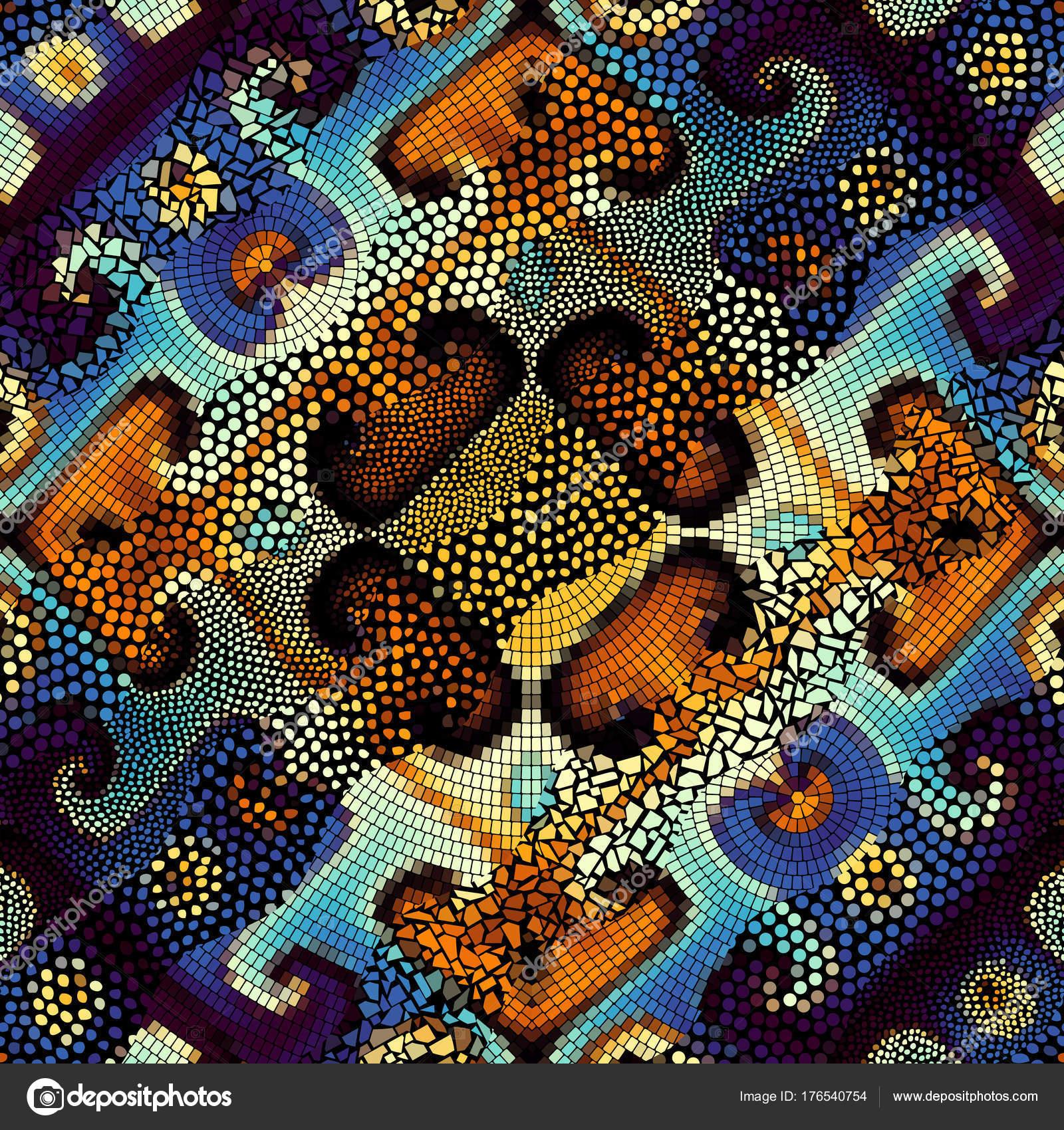 Waves of ornamental mosaic tile patterns — Stock Vector © kastanka ...