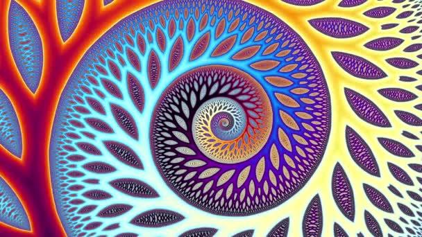 Endless spiral. Seamless loop footage.