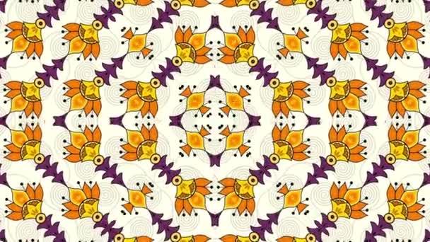 Symetrické abstraktní psychedelické smyčky pozadí
