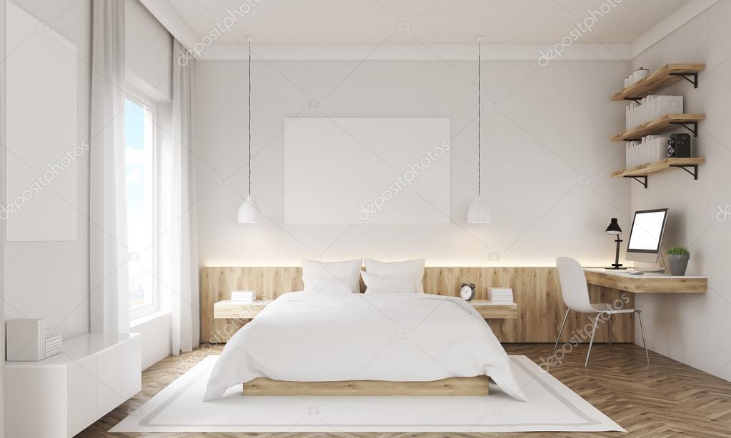 White walls bedroom — Stock Photo © denisismagilov #127092682
