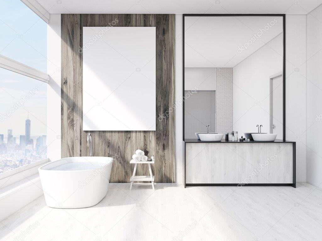 badkamer interieur met spiegel — Stockfoto © denisismagilov #127711792