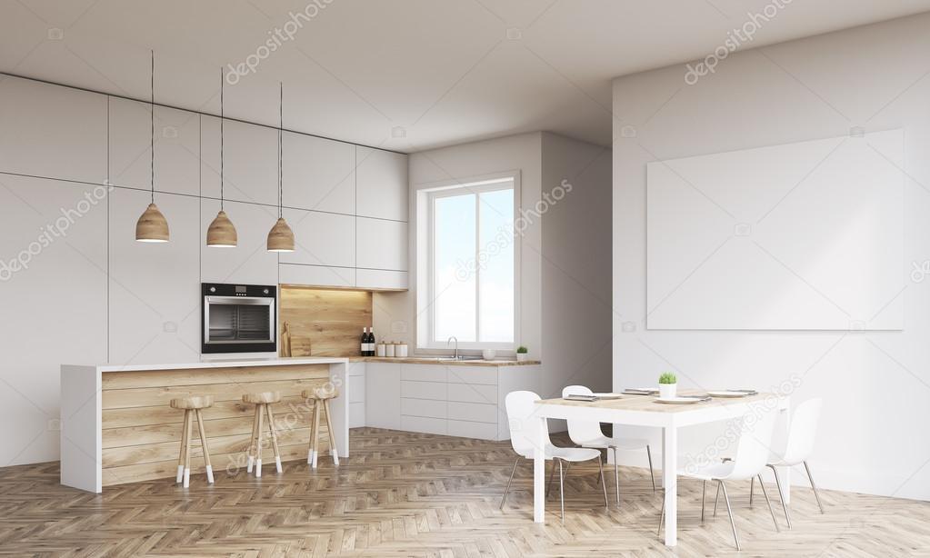 Fenster Küche seitenansicht der küche mit ofen und fenster stockfoto