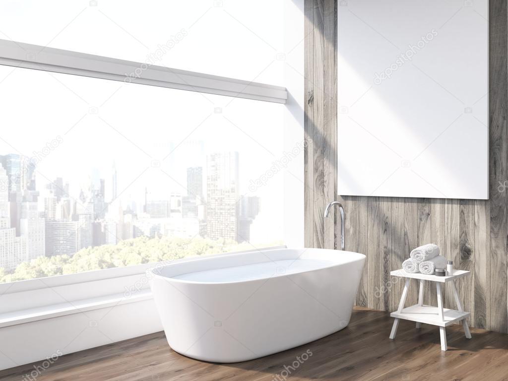 Vasca Da Bagno Verticale : Vasca da bagno e finestra panoramica u foto stock denisismagilov