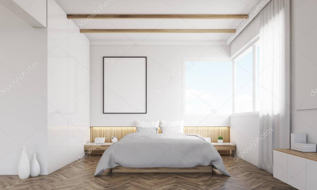 Camera Da Letto Con Divano : Vista frontale della camera da letto con divano e poster