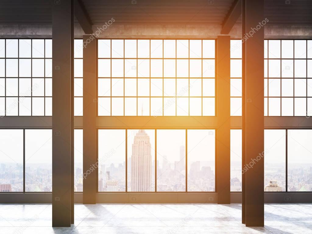 Fenster Loft york blick durch fenster loft getönt stockfoto