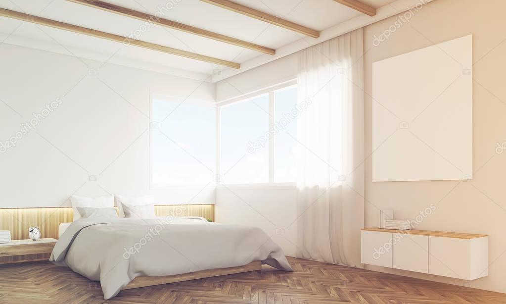 Camera Da Letto Con Divano : Angolo della camera da letto con divano e poster con cornice tonica