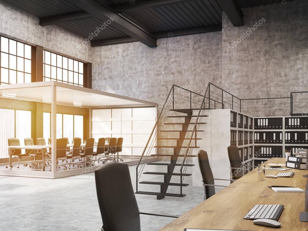 Aperto ufficio con sala riunioni acquario e librerie for Acquario aperto prezzi