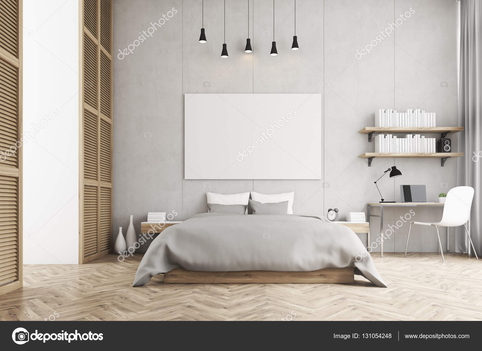 Awesome chambre a coucher lit king size photos design for Chambre a coucher vintage