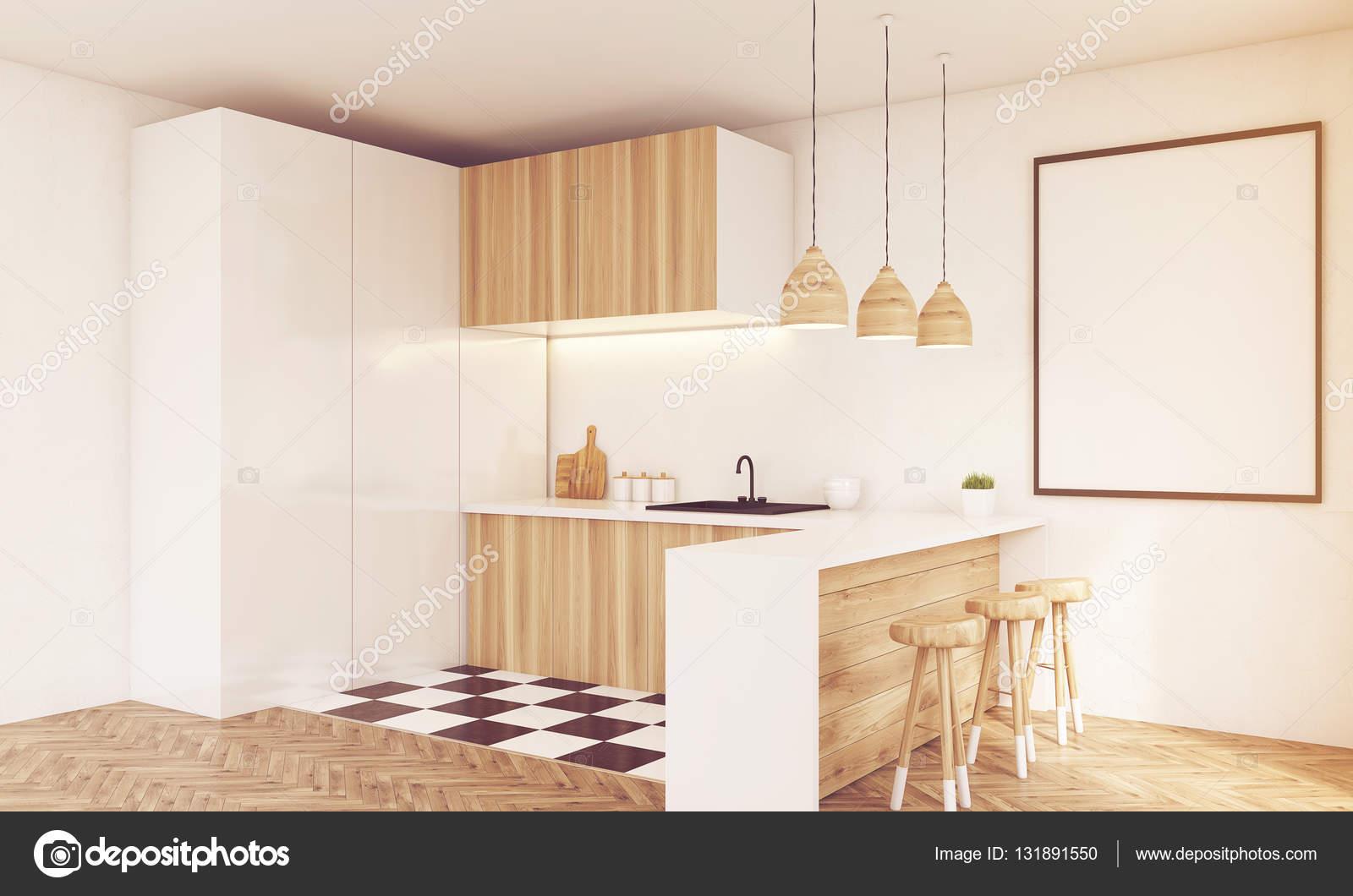 Rincón de luz cocina de madera tonificada — Fotos de Stock ...