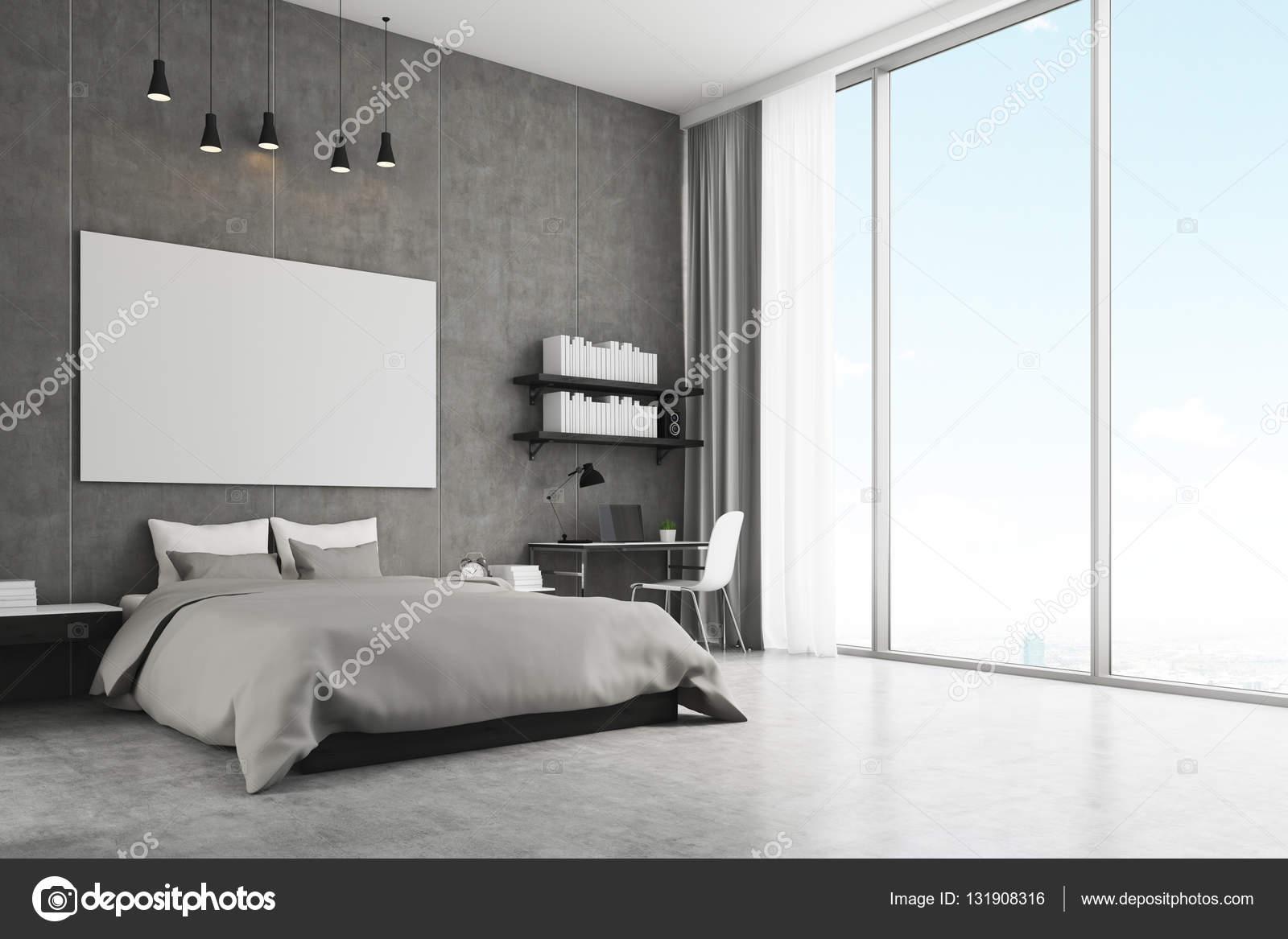 Schlafzimmer Mit Beton Wand Und Boden Stockfoto C Denisismagilov