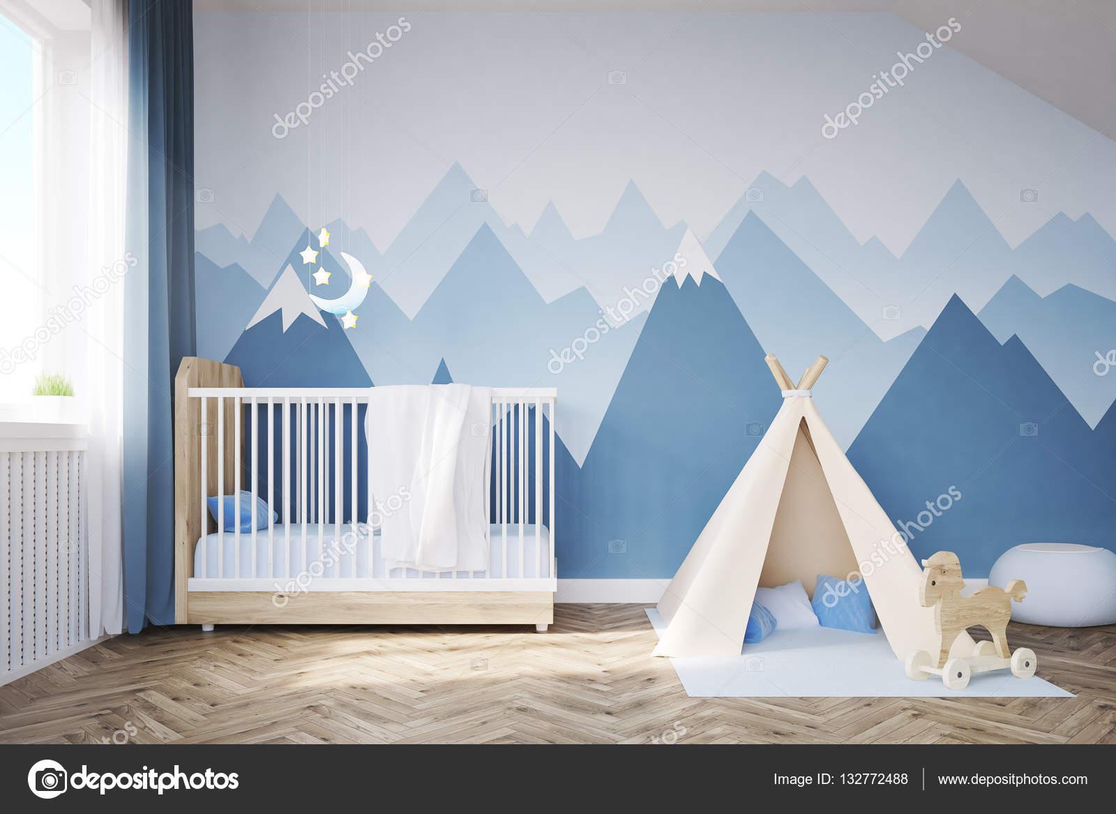 Kinderzimmer Mit Einem Bett Und Zelt Stockfoto C Denisismagilov